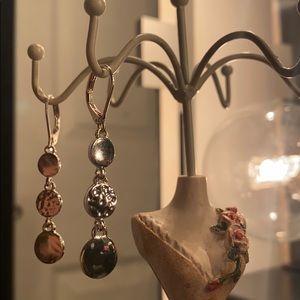 Nine west dangle silver earrings